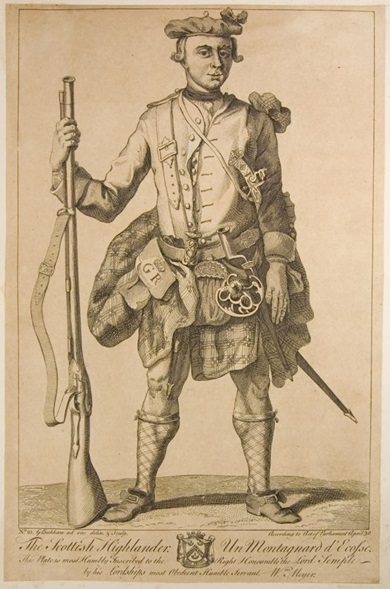 BW Soldier in Year 1765