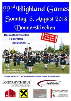 Flyer Kinder-Highlandgames Donnerkirchen