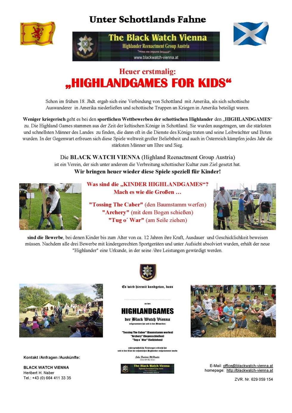 unter Schottlands Fahne - Highlandgames for kids